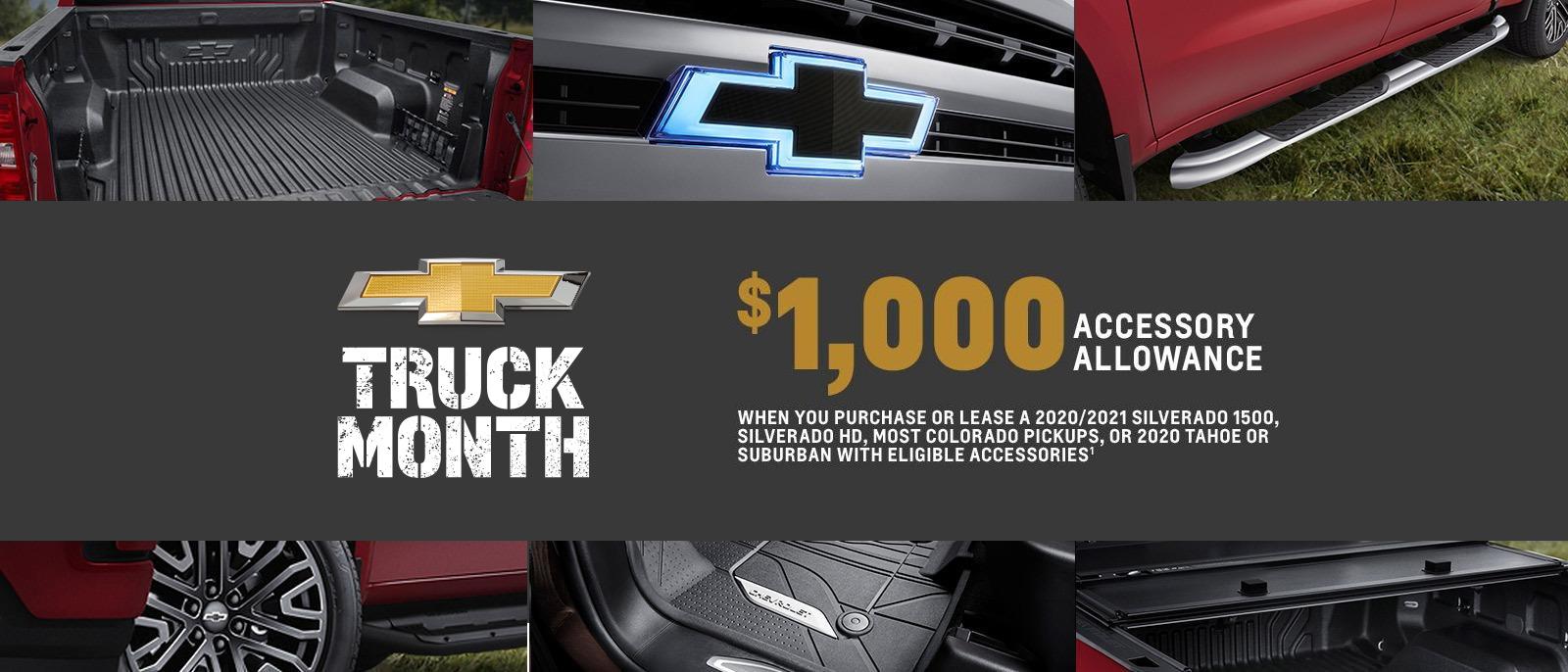 Truck Month - $1000 Accessory Allowance