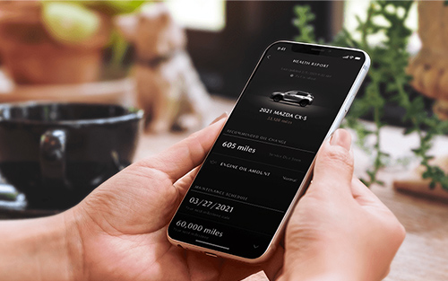 2021 Mazda CX-5 vehicle health report on phone