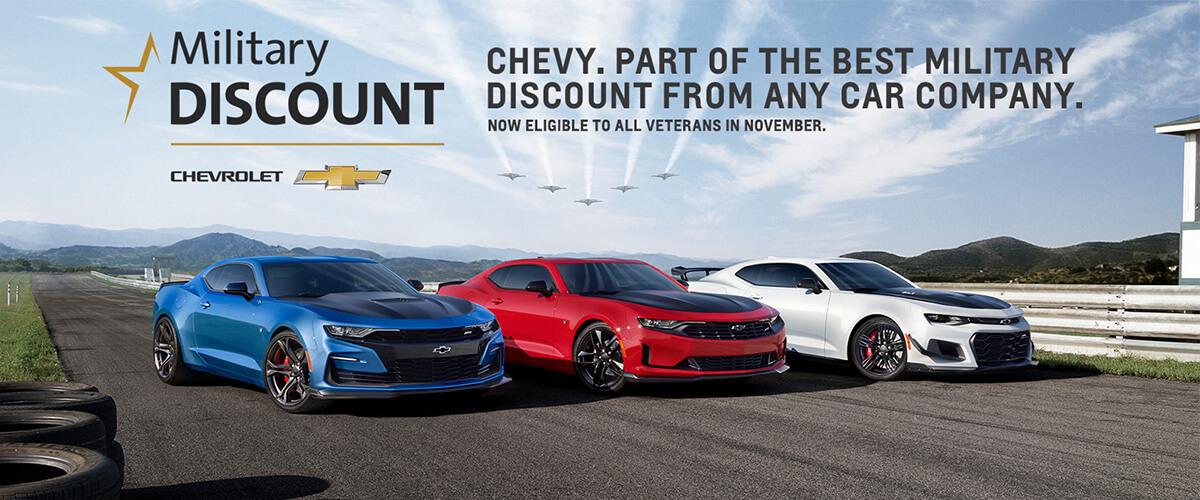Chevrolet Military Discount Camaro Lineup