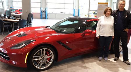 Happy Corvette customer