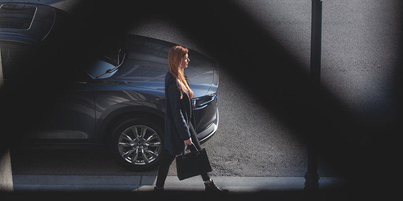 2021 Mazda CX-5 fuel efficient suv street view