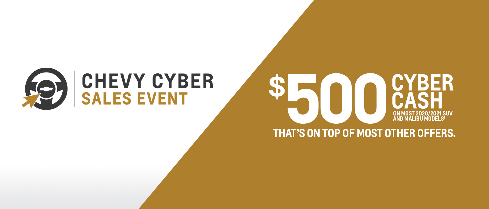 Cyber Sale Event - $500 CYBER CASH