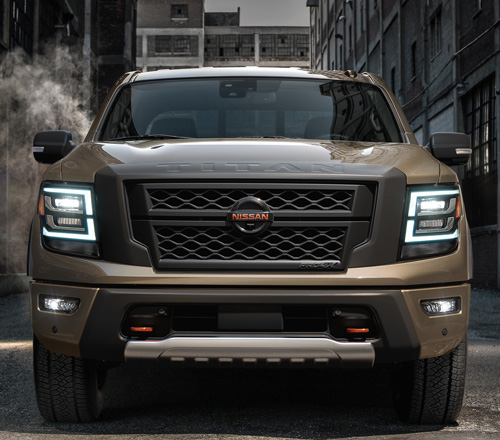 The front of a 2020 NIssan Titan