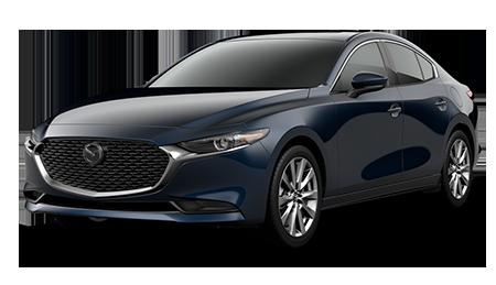 Dark Blue Mazda3 Premium Sedan