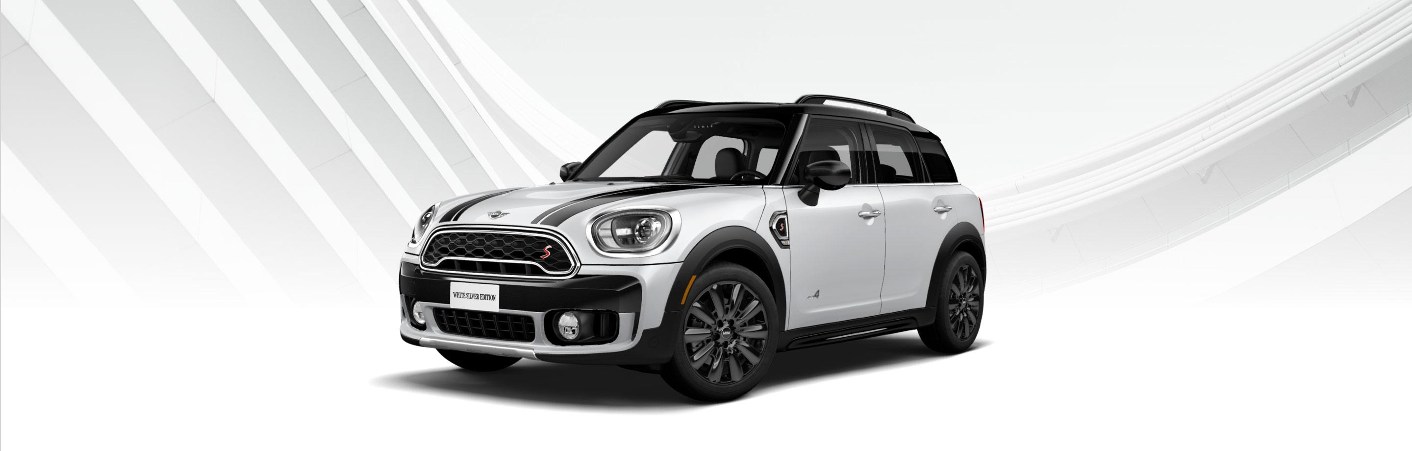White Silver Countryman front side view