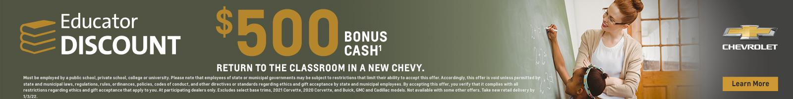 Return to the classroom in a new Chevy.