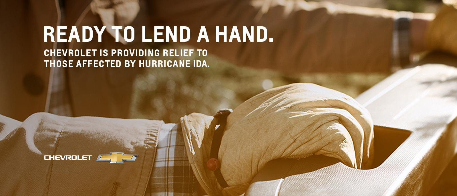 Chevrolet is lending a hand to those affected by Hurricane Ida