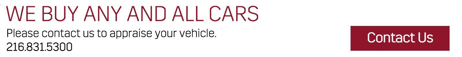 We Buy Cars at Crestmont Cadillac