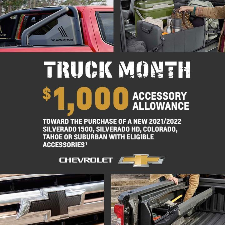 NOW DURING TRUCK MONTH.