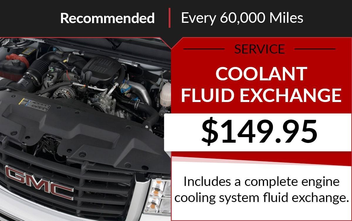 Buick GMC Coolant Fluid Exchange Service Special Coupon