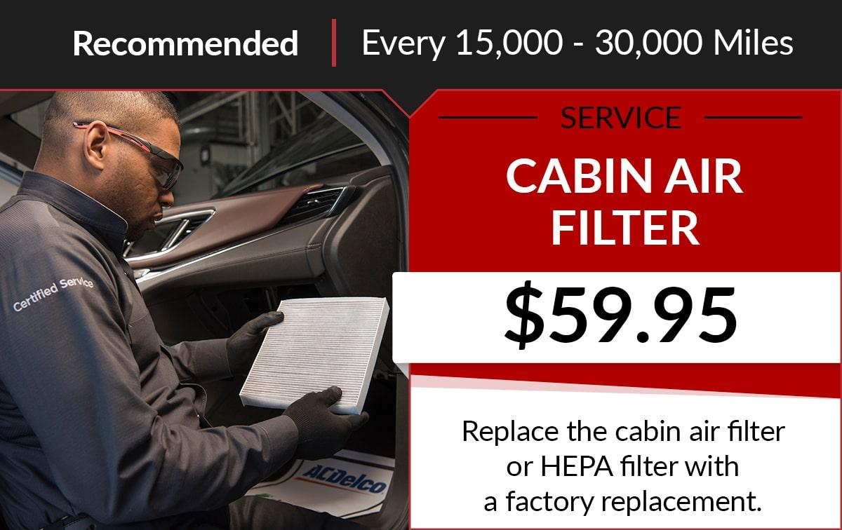 Buick GMC Cabin Air Filter Service Special Coupon