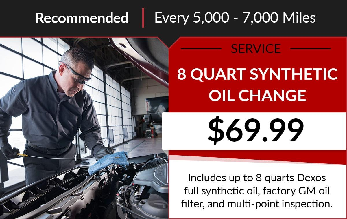 Buick GMC 8 Quart Synthetic Oil Change Service Special Coupon
