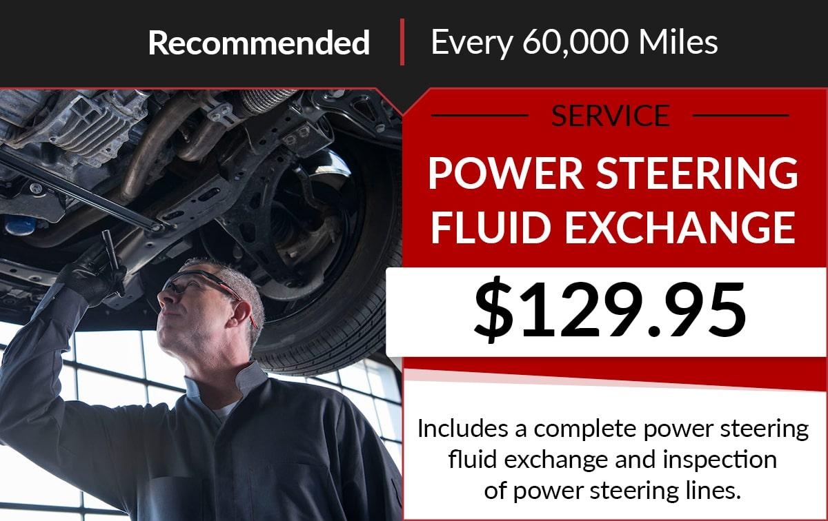 Buick GMC Power Steering Fluid Exchange Service Special Coupon