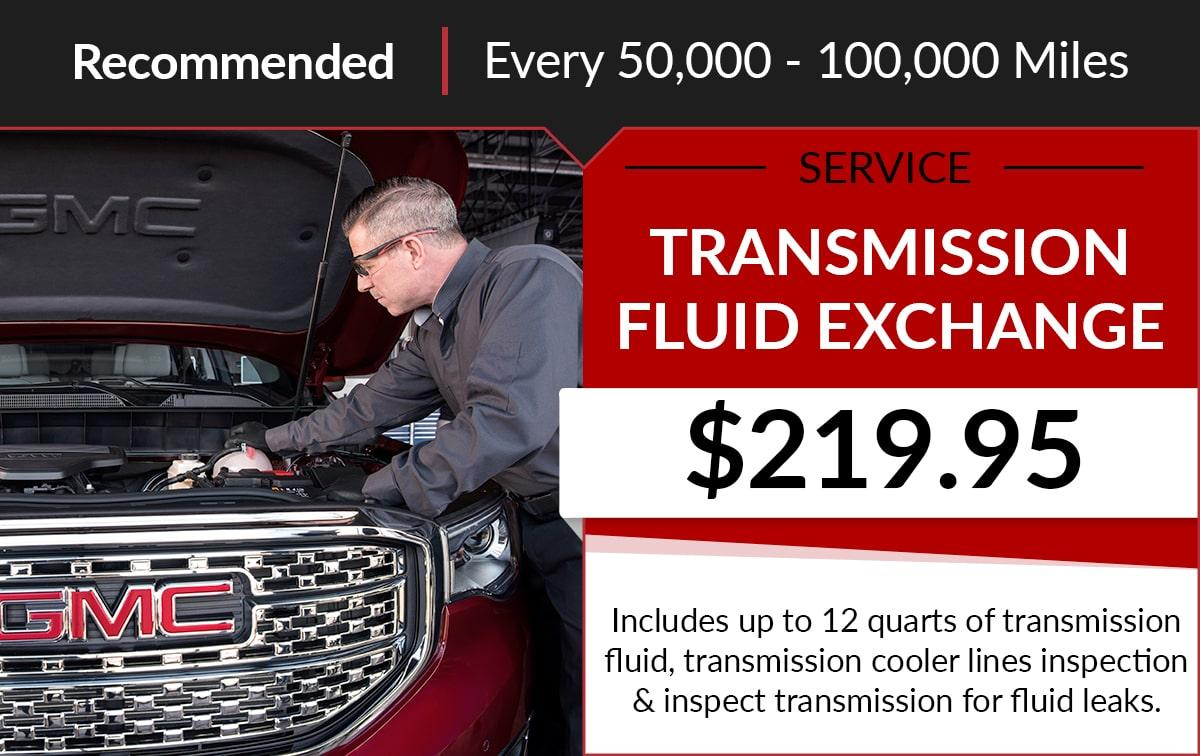 Buick GMC Transmission Fluid Exchange Service Special Coupon