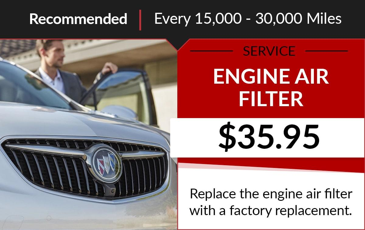 Buick GMC Engine Air Filter Service Special Coupon
