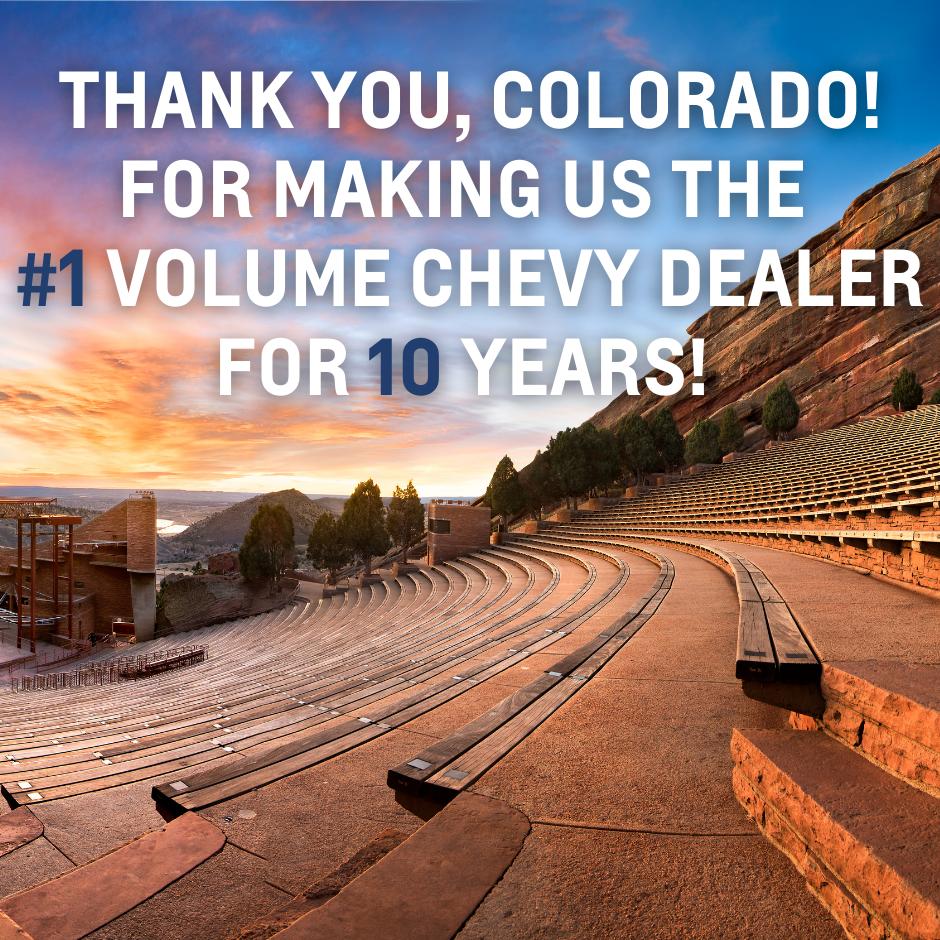 #1 Chevy in Colorado