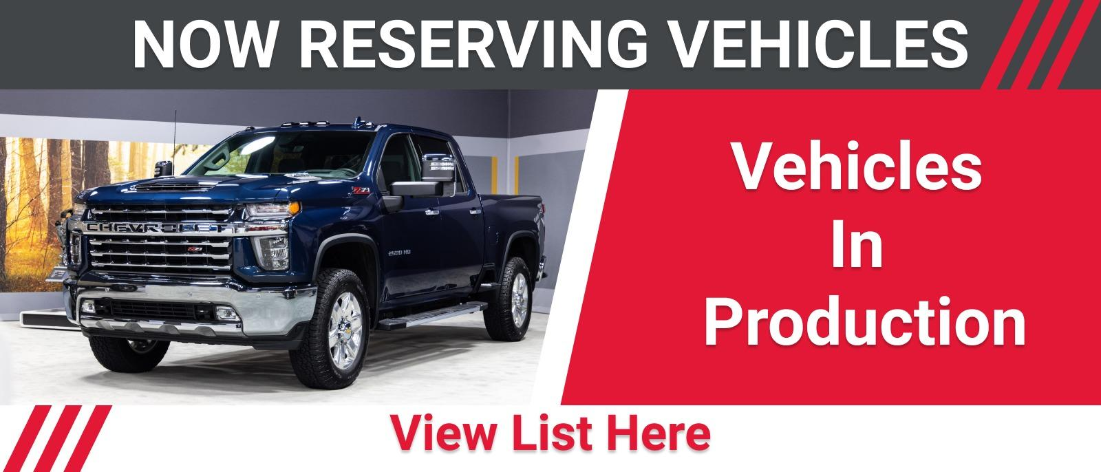 New Vehicle Reservations