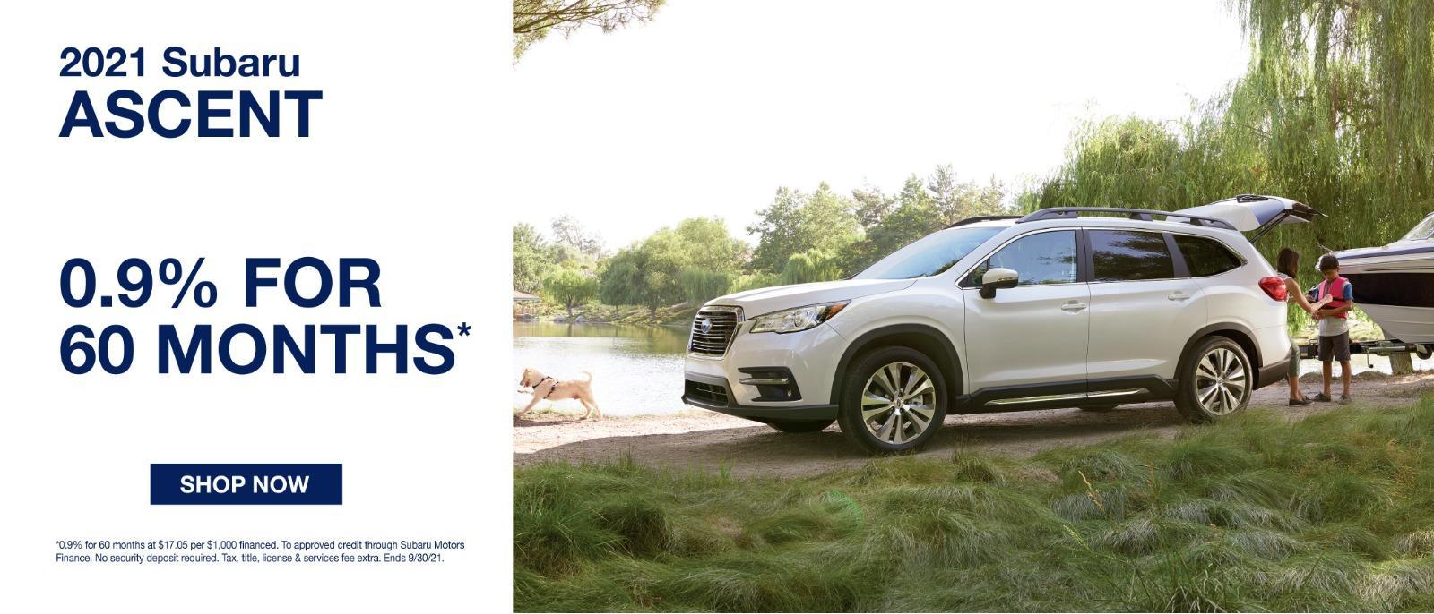2021 Subaru Ascent 0.9% for 60 Months*